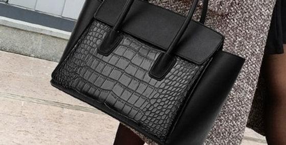 Handbag Women Leather Stone Print
