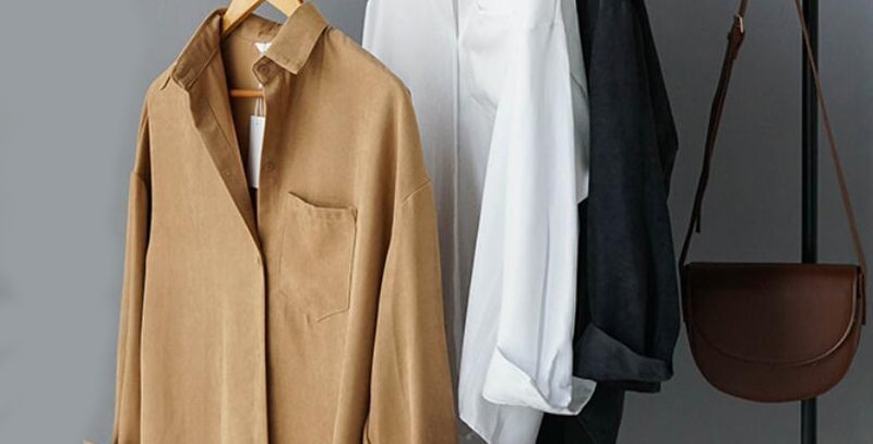 Lizkova White Blouse Women Suede Long Sleeve Formal Shirt