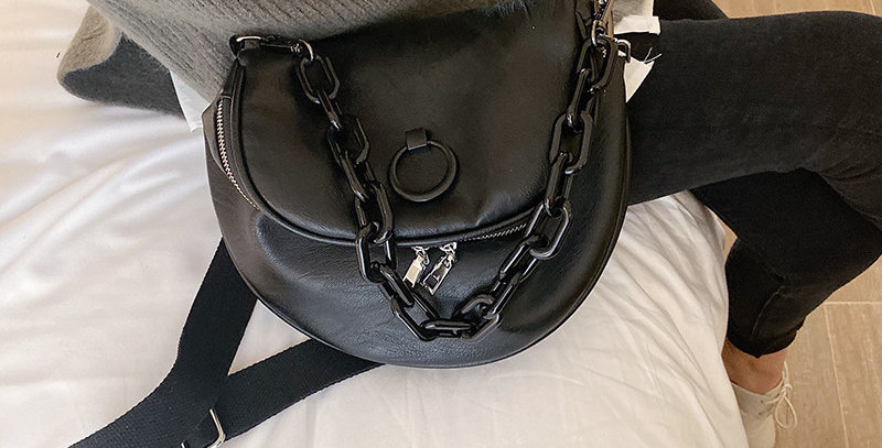 Solid Color Leather Bag Retro Soft Leather