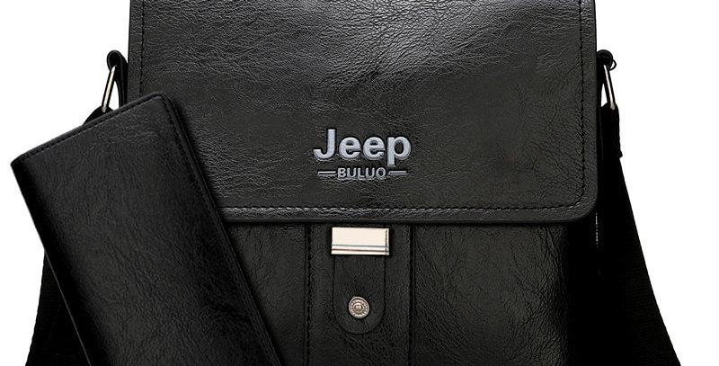 JEEP BULUO Men Shoulder Bag Set Big Brand Crossbody Business