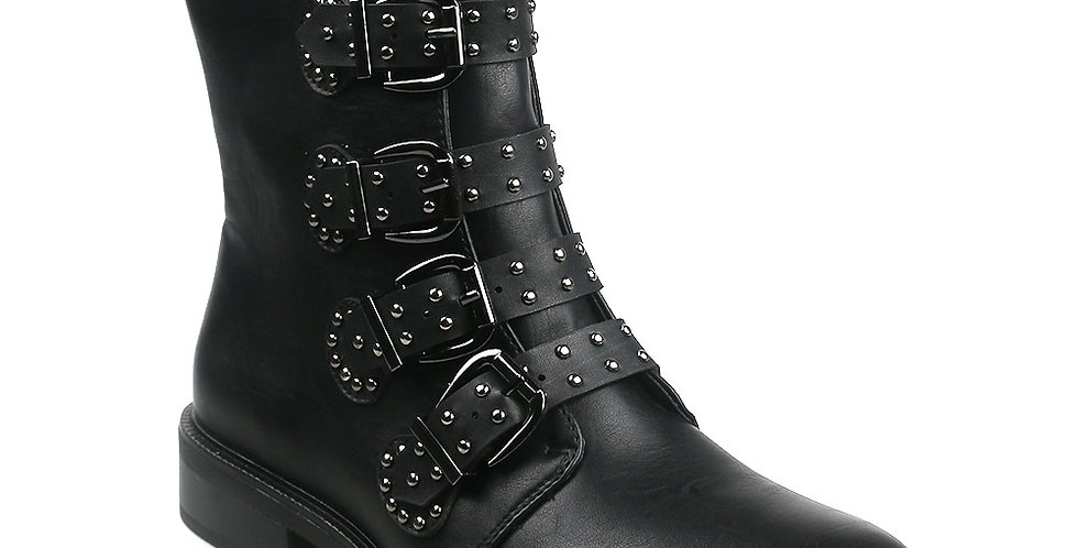 Leather Women Ankle Boots