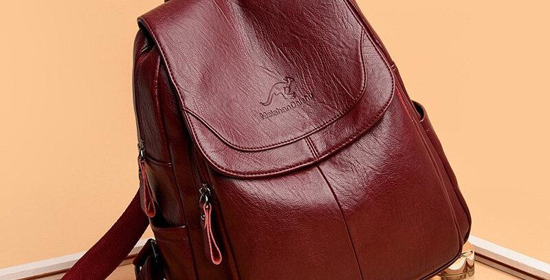 Designer Soft Leather Backpack