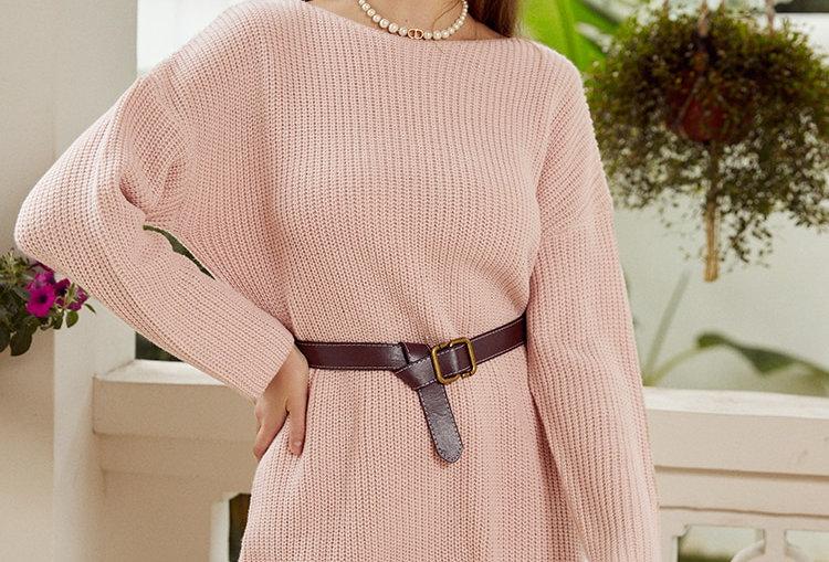 Knitted Oversize Women Sweater Dress