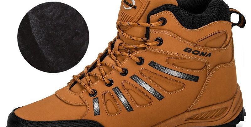 BONA Trekking Shoes Men Leather Climbing Sport Sneakers