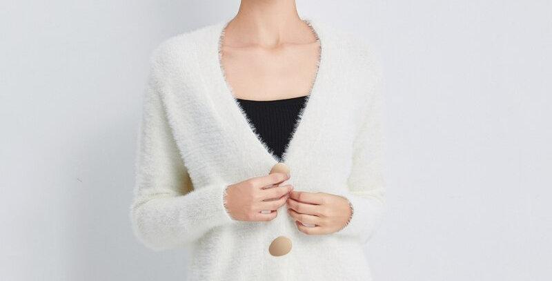 Woolen Open Stitch Sweater Female Warm Elegant