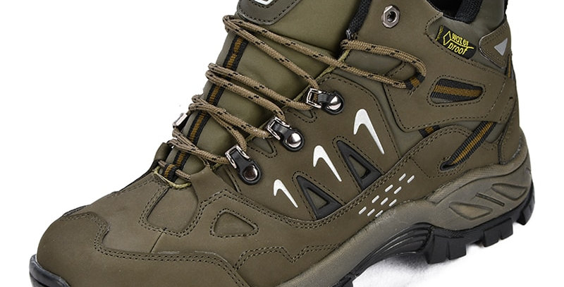 BONA Men Hiking Shoes Action Leather Men Athletic Shoes
