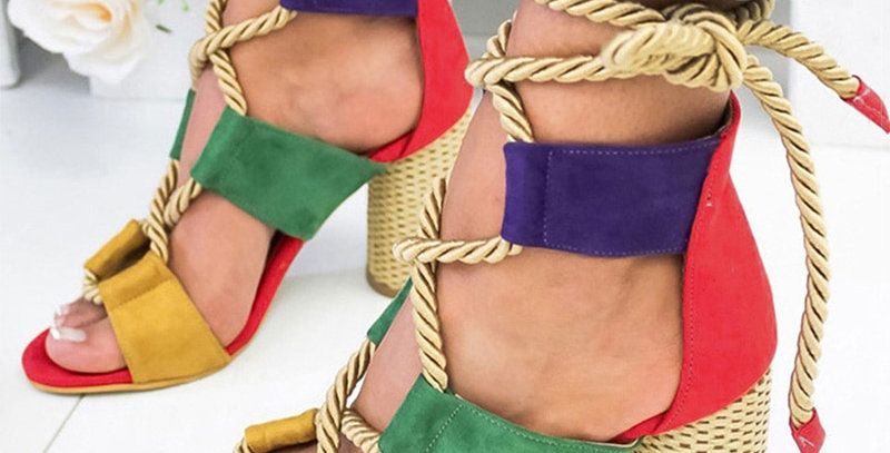 Women Sandals Lace Up
