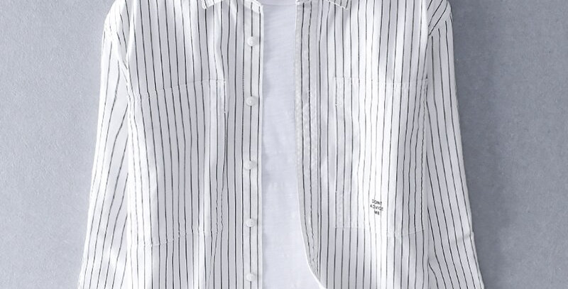 Cotton Shirt Men Retro