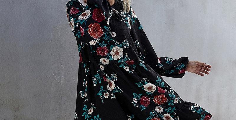 Ruffles Print Dress