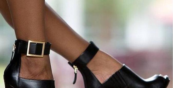 High Heels Open Toe Boots Sandals Leather Pumps Strap 11.5cm