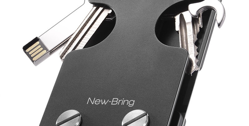 NewBring Multi-Functional Metal Money Clip Men
