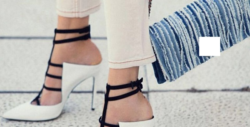 Sandals 12CM Pointed Toe Buckle