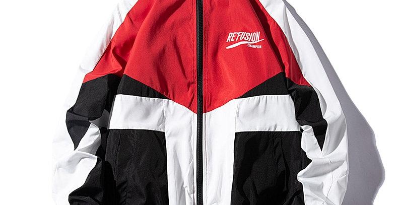LES KOMAN Men Jacket  HipHop Streetwear  Sports Coats Windbreaker