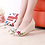 Thumbnail: Floral Slip on Shoes Natural Linen
