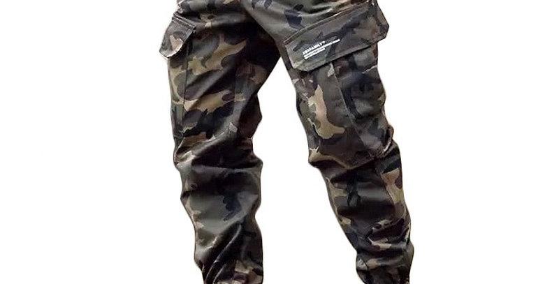 LOMAIYI Camo Joggers Men Cargo Pants Military With Pockets