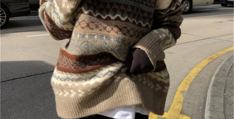 Vintage Knitted Women Sweater