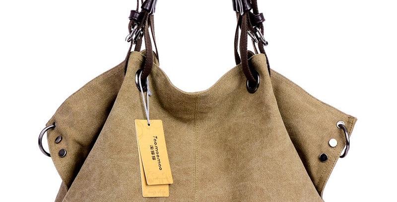 Women Canvas Bag Female Crossbody Bags Solid