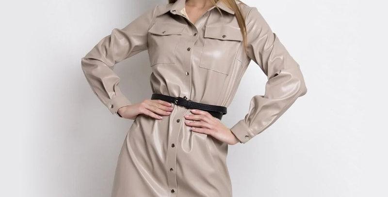 Women PU Leather Dress