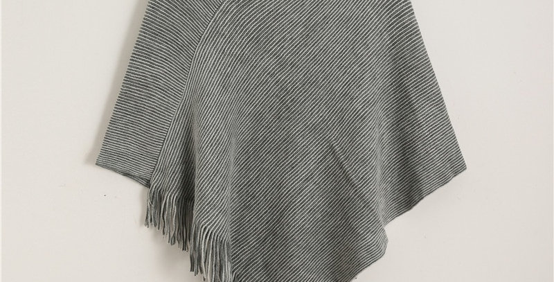 Solid Cashmere Poncho