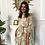 Thumbnail: Boho Floral Print Chiffon Dress