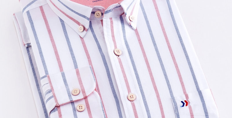 Men's 100% Cotton Striped Shirt