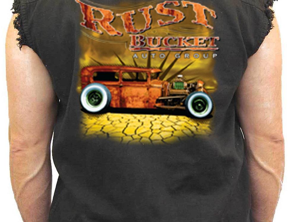 Men's Sleeveless Denim Shirt Rusty Bucket Auto Group