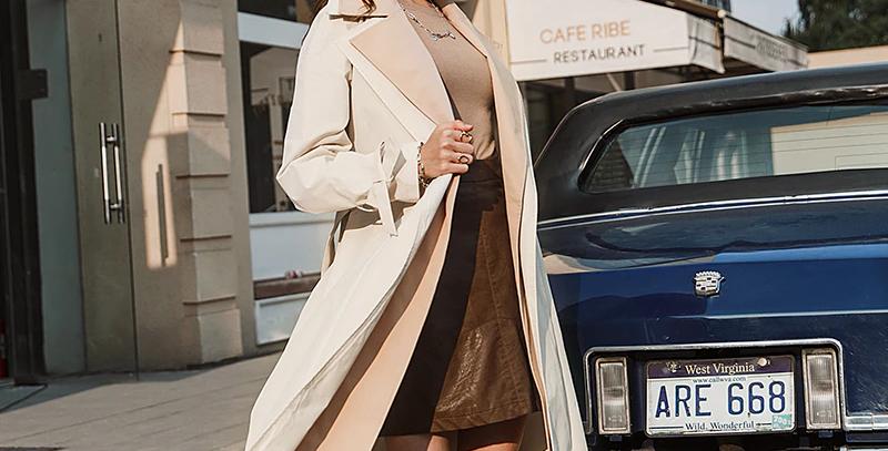 Casual Straight Fashion Long Coat