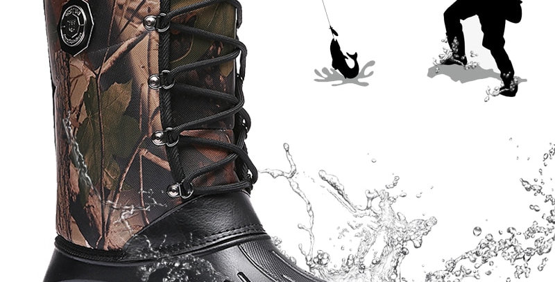 Fishing Boots Men Outdoor Camping Shoes Waterproof