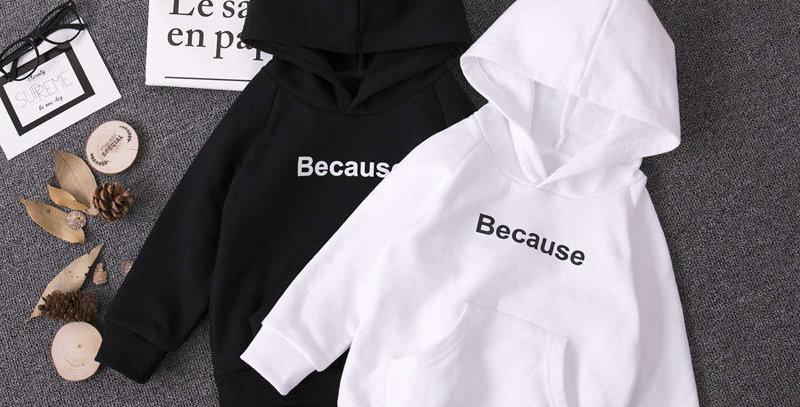 Hoodies White/Black 2T-17