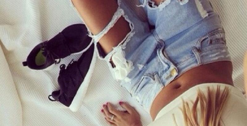 Boyfriend Hole Ripped Jeans Women Pants Cool Denim Vintage