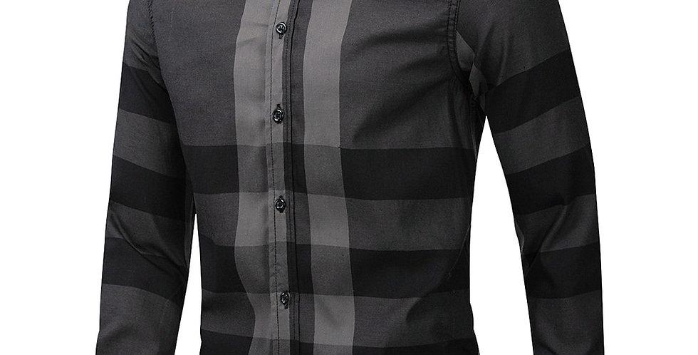 Men's Shirt Long Sleeve 100% Cotton