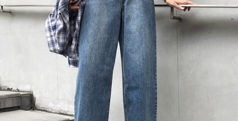 Jeans Women High Quality Retro Loose Trendy Chic