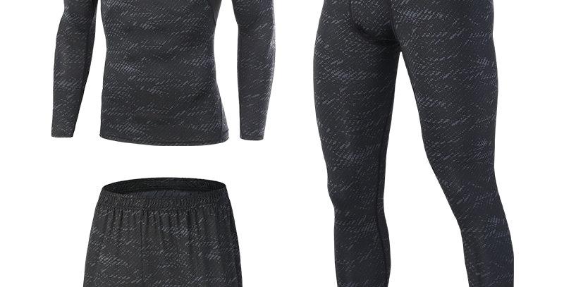 FANNAI Compression Men's Sport Suits Quick Dry Fit Sets Leggings Sports