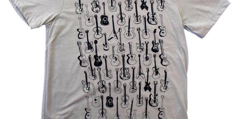 Guitars Pattern Heather Stone