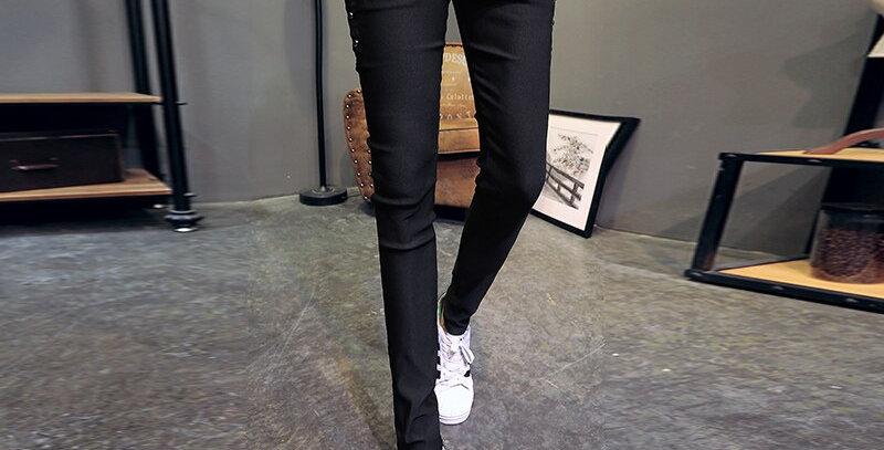 Skinny Pants Men Streetwear Trousers Men
