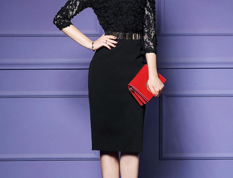 Women Elegant Office Pencil Dress