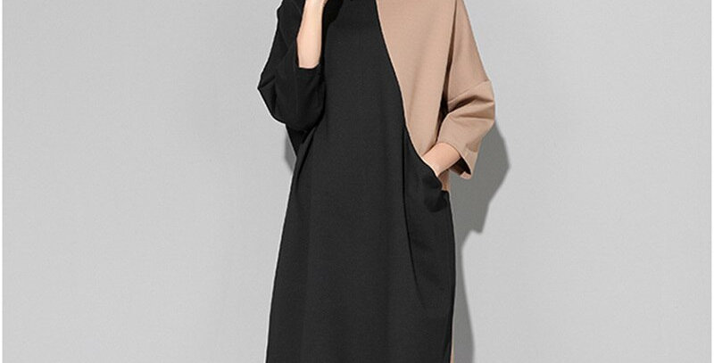 Loose Large Size Sweatshirt Dress Women