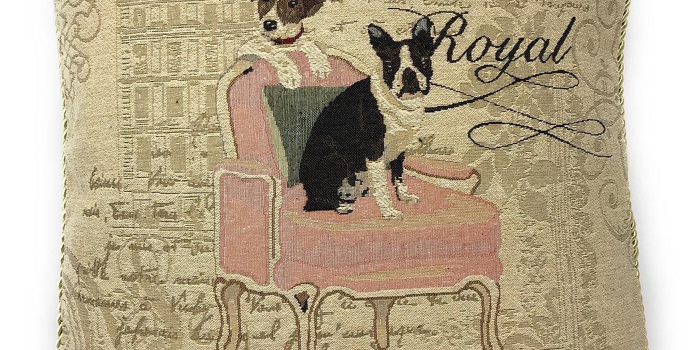 "French Bulldog Beagle Throw Pillow Cushion Cover, 1-Piece 18"""