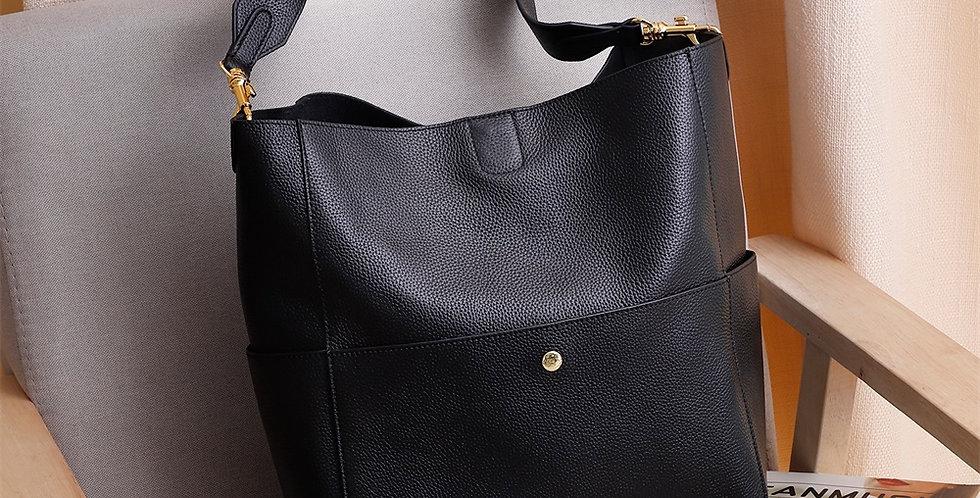 GIONAR RFID Genuine Real Leather Handbag Designer Purse for Women