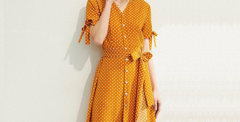 Dot Print Retro Women Dress