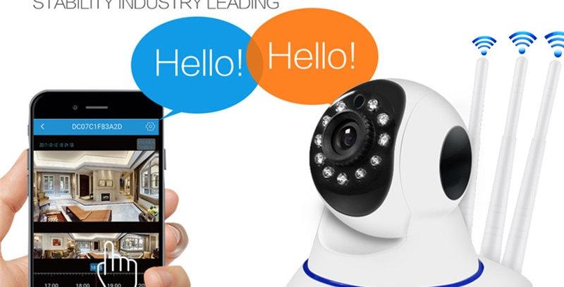 IP Camera Rotatable PTZ Surveillance WiFi RJ45 IR Night Vision