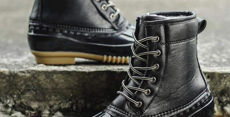 Boot With Waterproof Zipper Rubber Sole
