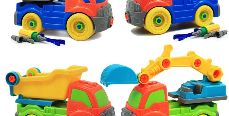 26cm Dump Truck Early Learning Education DIY Assemble 3D