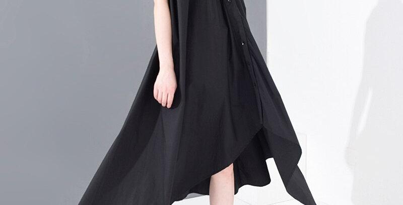 Women Irregular Long Shirt Dress