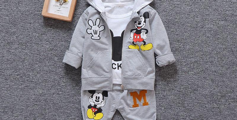 Boys/Girls Miki Mouse Cotton Set 12M-4T