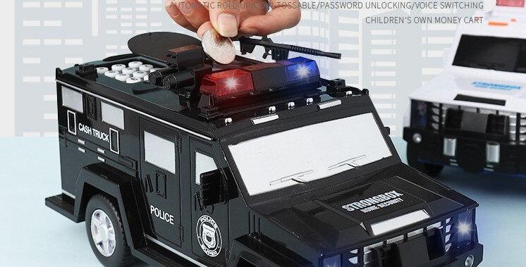 Cash Truck Money Transfer Car Automatic Roll Money Password Fingerprint Piggy
