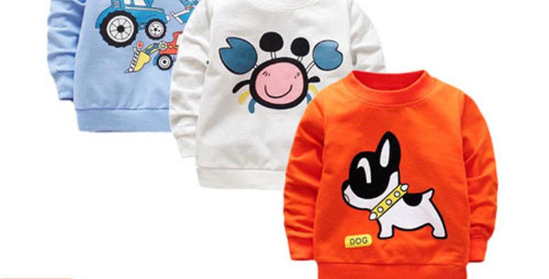 Baby Boy T-Shirt Long Cotton 3Pcs 3-24M