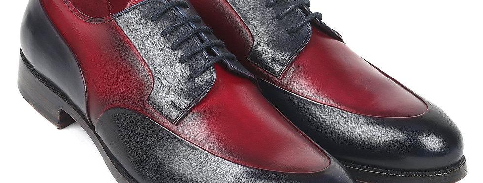 Paul Parkman Men's Bordeaux & Navy Derby Shoes
