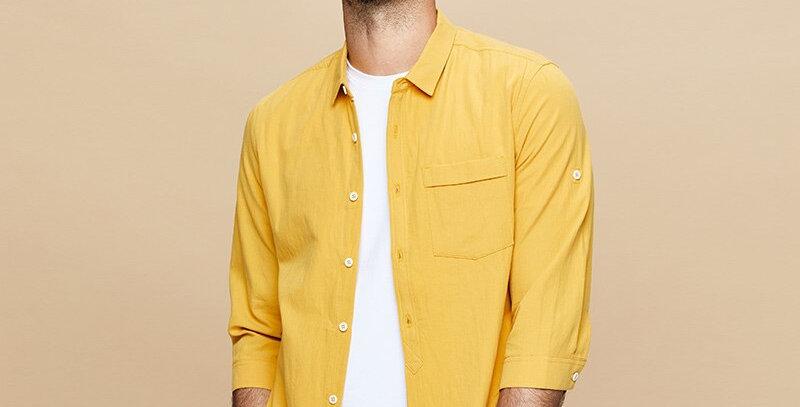 100% Cotton Men's Shirt Three-Quarter