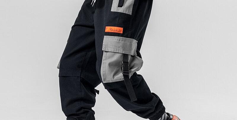 LAPPSTER Patchwork Streetwear Harem Pants Men